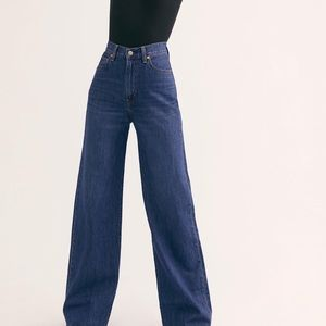 NWT Free People x Levi's Ribcage Wide Leg Jeans